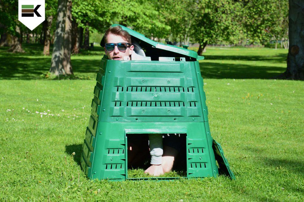 Plastový záhradný kompostér PROFI 400 l