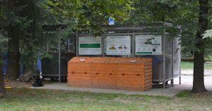 Komunitný kompostér z dreva