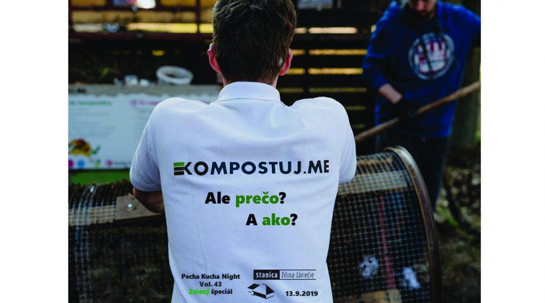 Michal Vavrík OZ Kompostujme na Pecha Kucha na Stanici