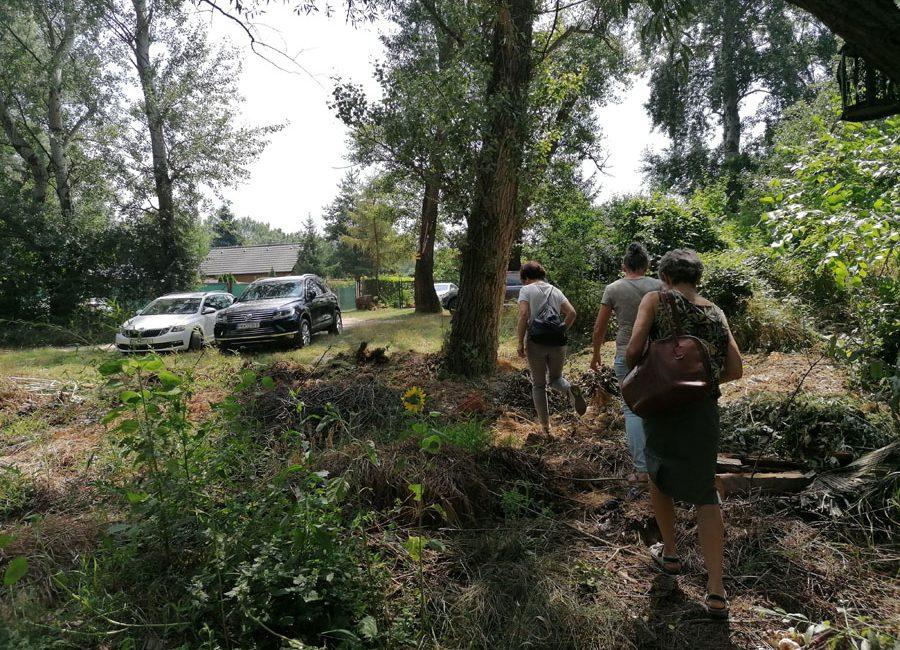 Prechádzka k nelegálnej skládke bioodpadov Poronda